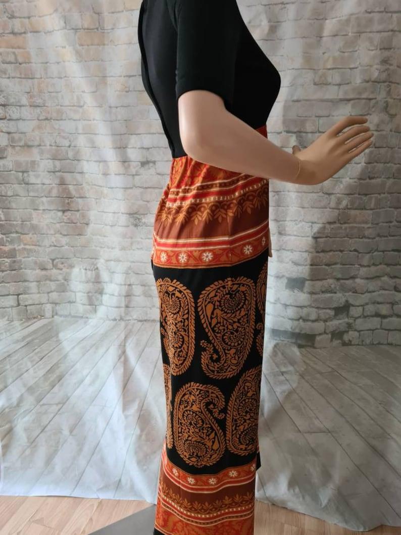 Vintage 1970s Maxi Dress