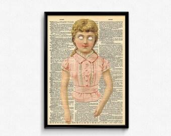 Creepy Wall Art American Horror Story Dictionary Art Print Creepy Cute Vintage Decor
