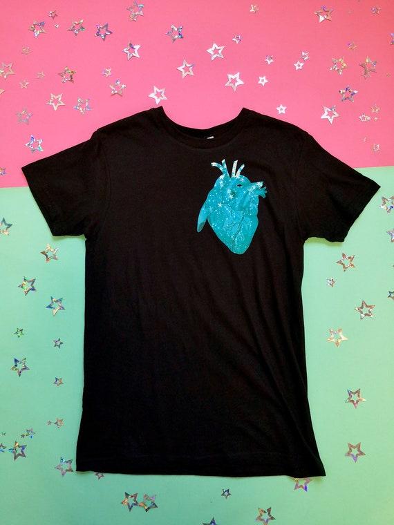 Twilight Anatomy Heart Tshirt Celestial Astronomy Stars Print Pastel Goth Soft Goth Kawaii Gothic Clothing by Etsy