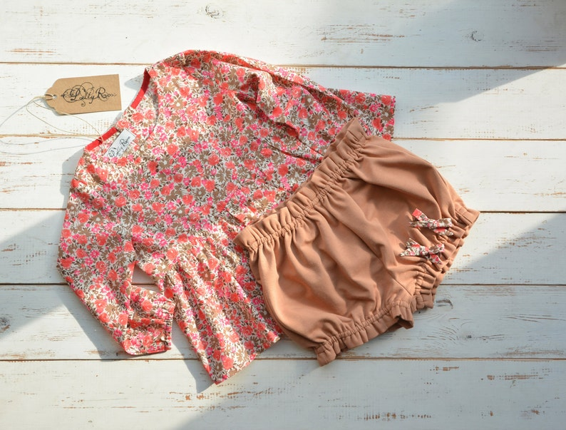 Baby Girl Bloomers Coffee Cotton