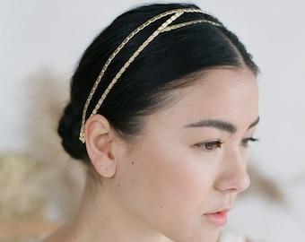 Lab Textura Headband // Textured bridal headband