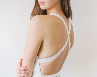 Columbia // A Sequinned, Low Back Dress With Ribboned Ties