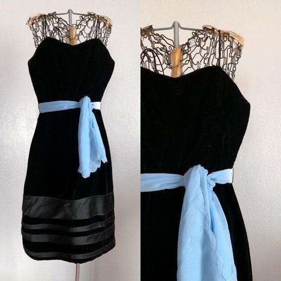 1960s Velvet Party Dress
