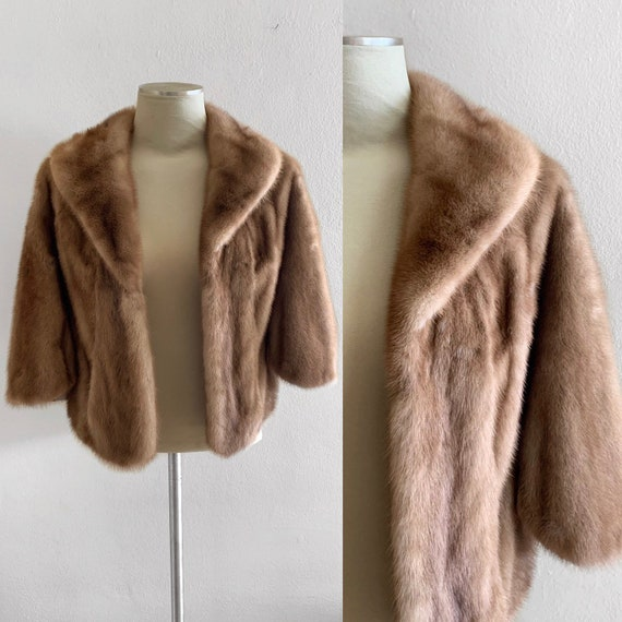 1940s Furs By Wilibel Mink Cape