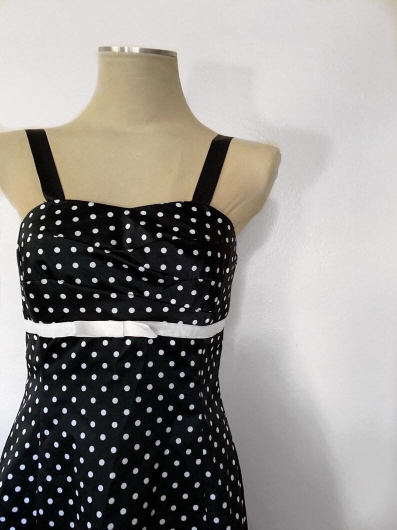 1980s B Darlin Polka Dot Dress