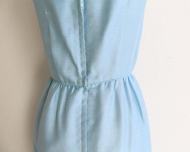 Vintage 1950s Dress Light Blue Cocktail Dress Womens Small