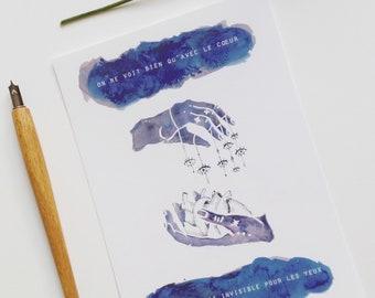 illustration card- St exupery
