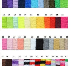 """9""""  Crochet Tube Tops 2.00 ea."""