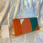 Number 10 | Rust, blush, aqua colorblock quilted bag