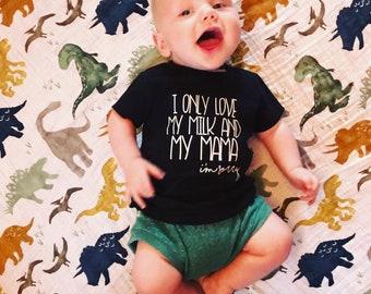 I Only Love My Milk and My Mama I'm Sorry // Drake Shirt // God's Work Song Shirt // Fun Toddler T-Shirt // Breastfeeding Shirt