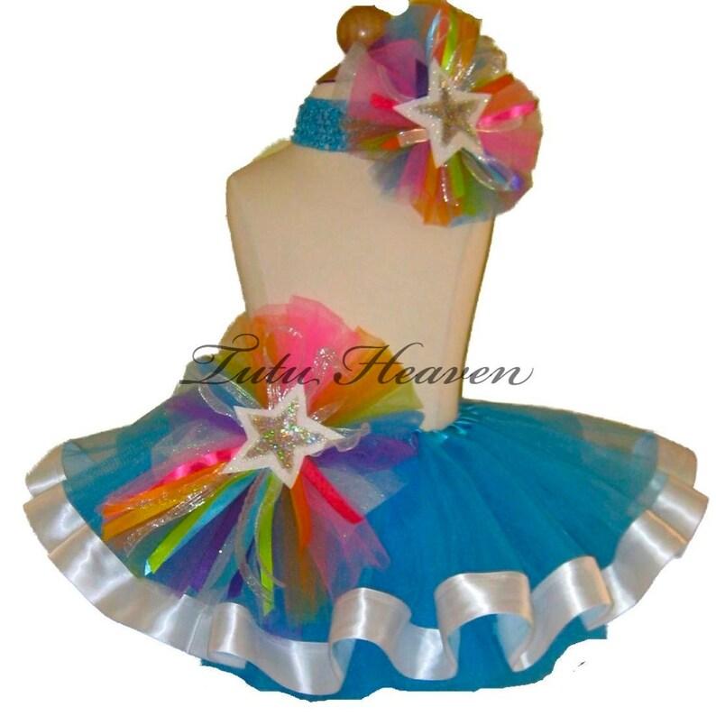 4a1804cf70 RAINBOW Tutu . Little Girls to Adult Plus Size . Blue Tutu . | Etsy