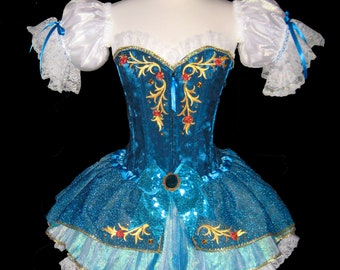 MERMAID Fairytale Costume . Little Girls to Adults Plus Size  . Running Costume . Short Length 11in by The Tutu Factory USA ™
