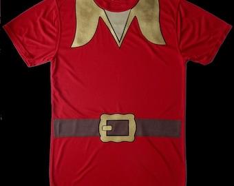 GASTON Tank Top . Red Running Shirt  . Mens . Big Girls to Adult Plus Size . Running Shirt by The Tutu Factory USA ™