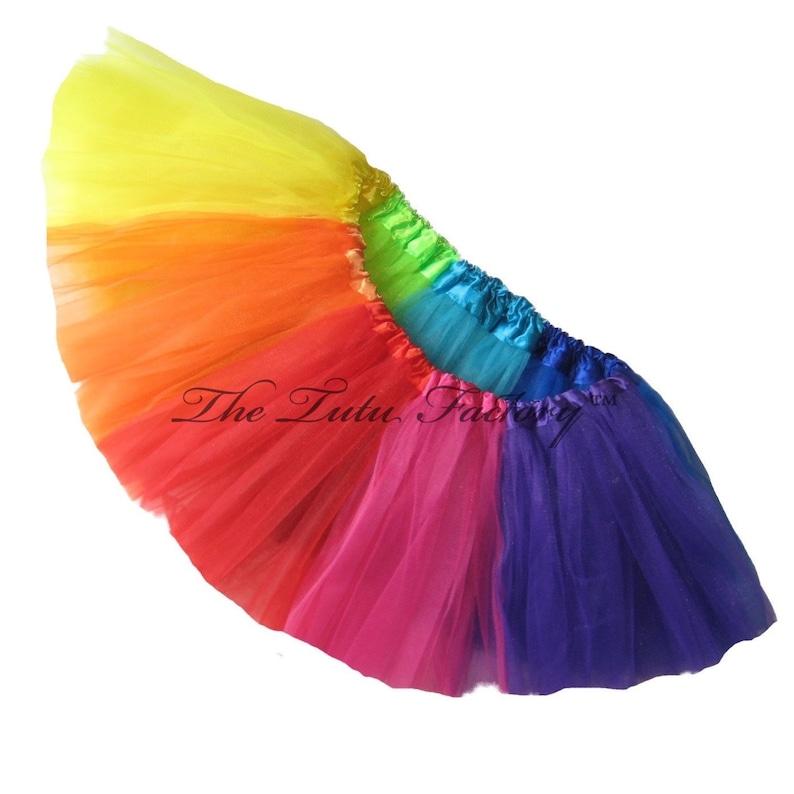 9b482b5699 RAINBOW Tutu . Little Girls to Adults Plus Size . Short Length | Etsy