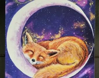 Sleepy Fox 8 x 10 Giclee Print