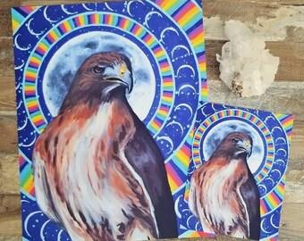 Hawk Spirit 8 x 10 Print