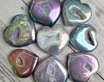 Angel Aura Agate Hearts (You Choose!)