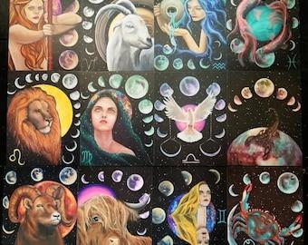 Zodiac Moon Oracle Card Set