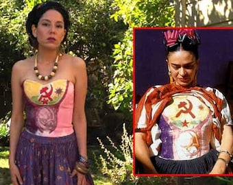Frida Kahlo top inspired by Frida's cast. Frida Kahlo costume. Size XS