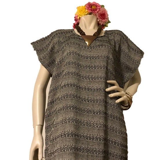 Vintage Mexican handwoven huipil. Mexican tunic. F