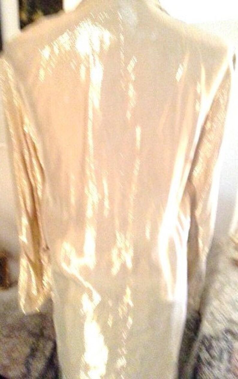 Vintage Gold Metallic Oversized Jacket