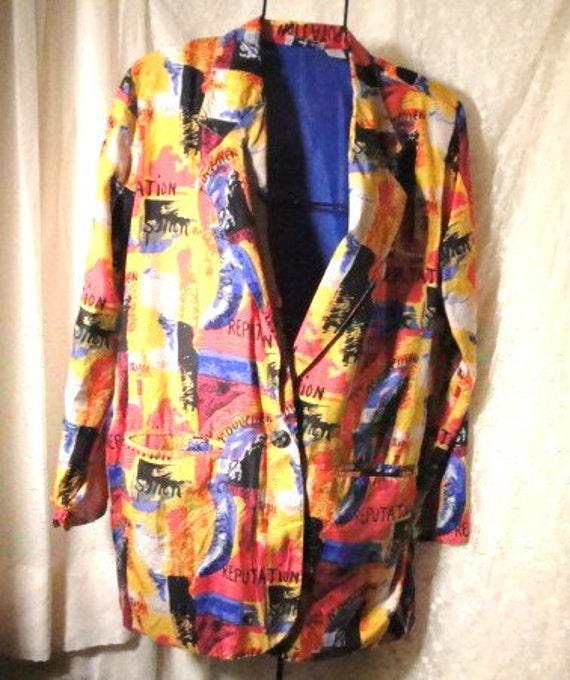 Multi Color Silk Jacket