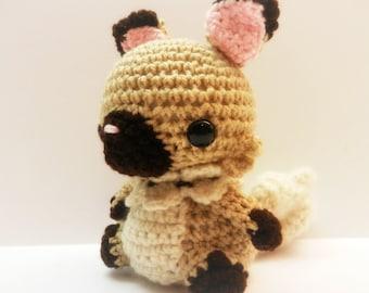 Crochet Rockruff Inspired Chibi Pokemon