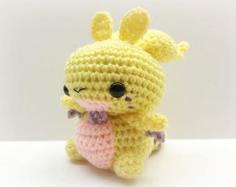 Crochet Goodra Inspired Chibi Pokemon Regular or Shiny