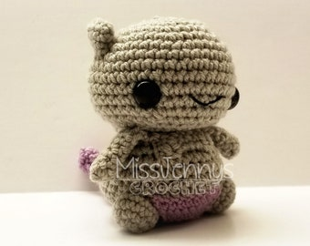 Crochet Mewtwo Inspired Chibi Pokemon