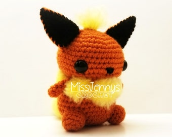 Crochet Flareon Inspired Chibi Pokemon
