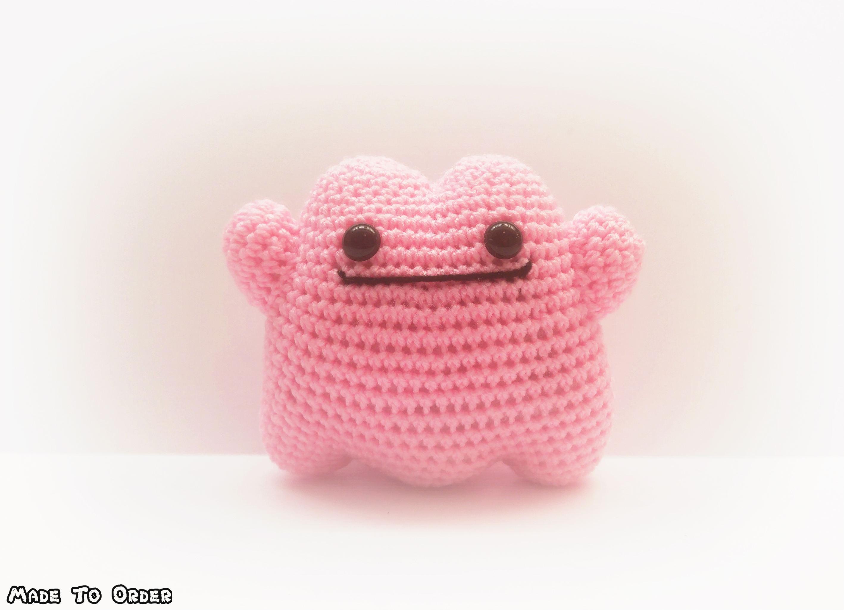 Crochet Ditto Inspired Chibi Pokemon Etsy