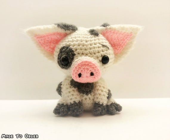 crochet pua pig plush inspired by disney s moana etsy