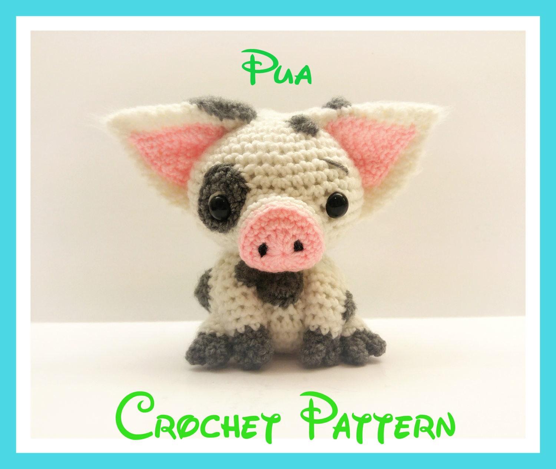 Crochet Pua Pattern From Disney\'s Moana PATTERN ONLY   Etsy