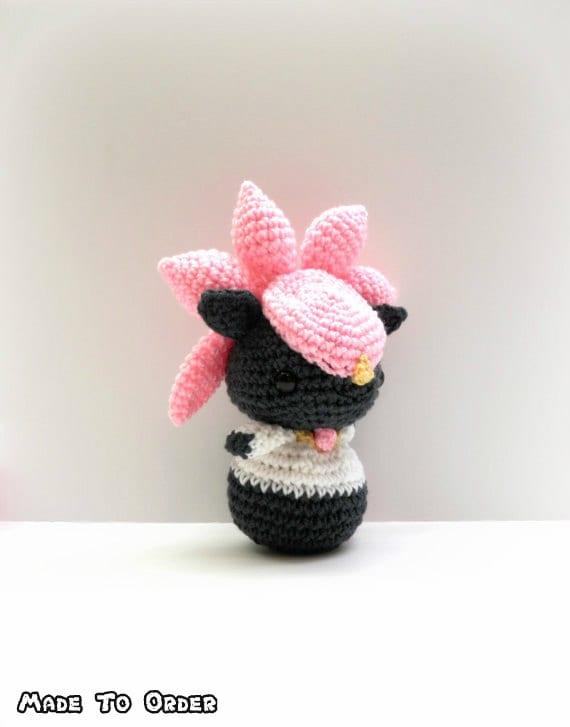 Crochet Diancie Inspired Chibi Pokemon Etsy