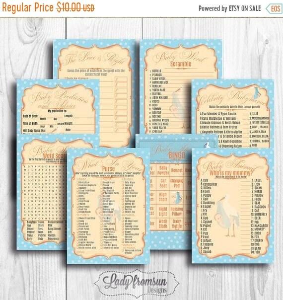 Tarjeta Y Cartes Imprimible De Mensaje Cigüeña Baby Shower Para Niño Personalizable Texto Editable Actividad Fiesta Descarga Instantánea