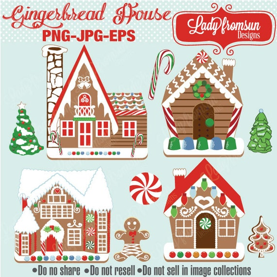 Christmas Holiday Clipart.Gingerbread House Christmas Holiday Clipart Gingerbread