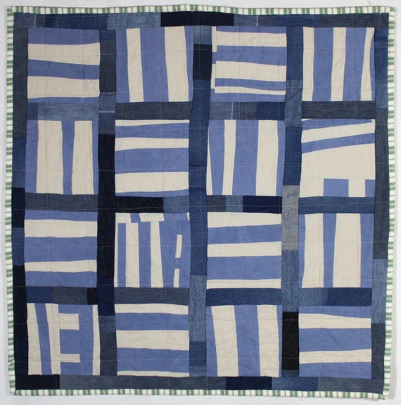 PDF Quilt Pattern Improvisational Basketweave Quilt Pattern Etsy Simple Basket Weave Quilt Pattern