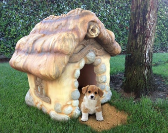 Storybook Style Carved Dog House