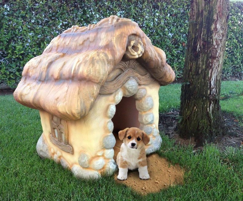 Storybook Style Carved Dog House image 0