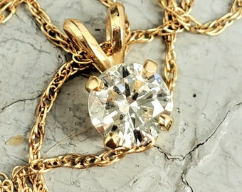 Payment 1 of 2  for B Classic .50 CT Natural Diamond Solitaire Pendant Necklace 18 Inch 14K! Bridal Layering Birthstone!