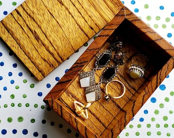 Handmade Exotic and Reclaimed Wood Jewelry Stash Storage Gift Boxes! Locally Crafted!