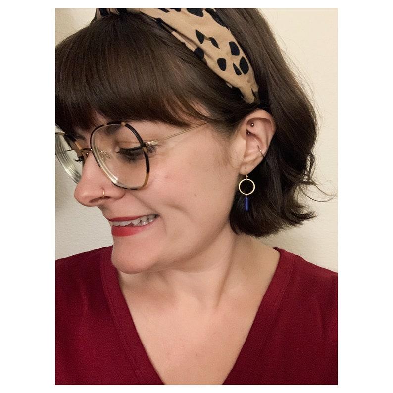 Ai\u2019s Modern Earrings in Lapis