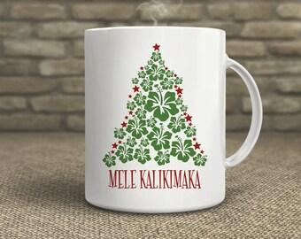 Mele Kalikimaka Mug | Christmas Mug | Hawaiian Christmas | Hawaii | Christmas Gift | Coffee Mug
