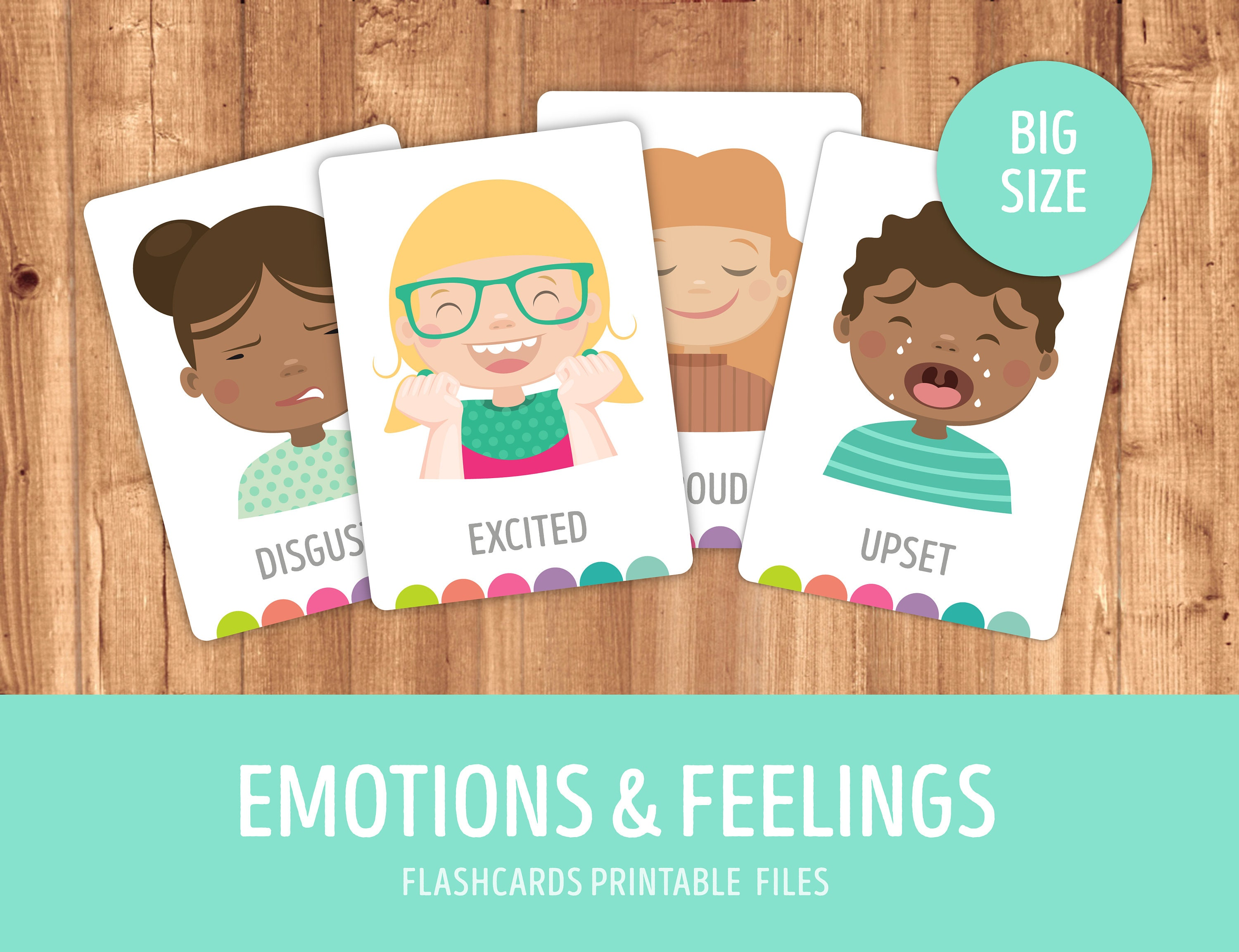 Printable Emotions And Expressions Faces Flashcards How Do Etsy