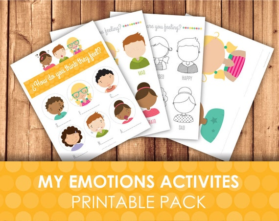Printable Emotions And Expressions Faces Worksheets / Playdough Face Emotion  Templates / Guess, Draw & Paint / Emotional Development By Little Graphics  Catch My Party