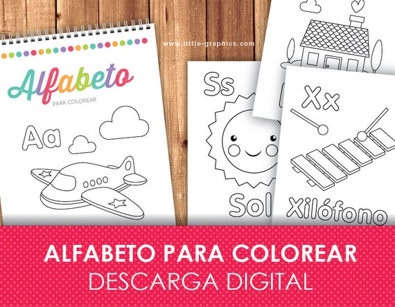 Printable Spanish Alphabet Coloring Pages