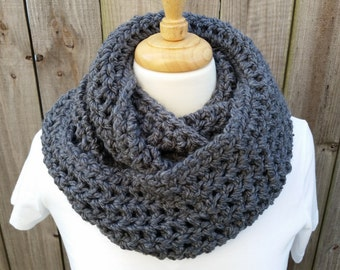 Womens Crochet Cowl - Bulky Cowl - Gifts for Her - Neck Warmer - Chunky Knit Cowl - Infinity Scarf - Winter Scarf