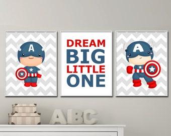 Baby Boys Nursery Art Prints. Boys Nursery Wall Art. Boys Super Hero Bedroom Decor. Super Hero Art Prints. H263