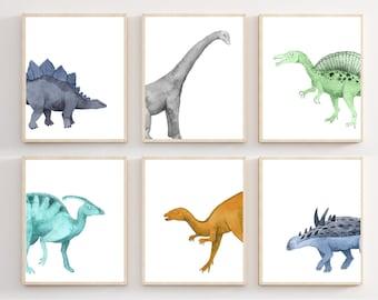 Wall Art Poster Home Decor Realistic Model Of Dinosaur Art//Canvas Print