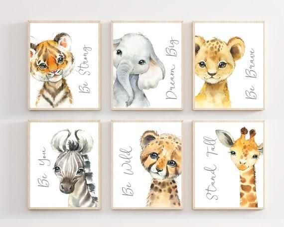Safari Nursery Decor Safari Nursery Wall Art Safari Animal Wall Art Baby Boy Art Baby Boy Nursery Decor Baby Boy Nursery Wall Art